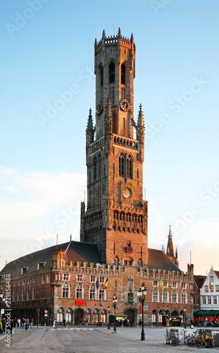 Keuken foto achterwand Brugge Belfry of Bruges. Belgium