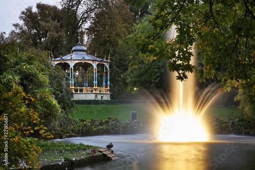 Pond in Bruges. Flanders. Belgium