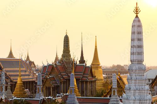 In de dag Bangkok Temple of the Emerald Buddha