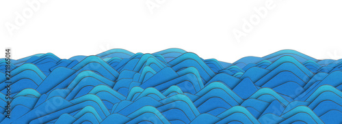 Papiers peints Abstract wave Paper waves seamless pattern. Abstract blue background