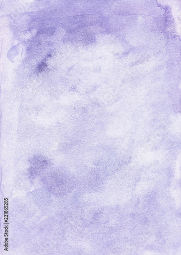 Watercolor Light Purple Gradient Background Hand Painted