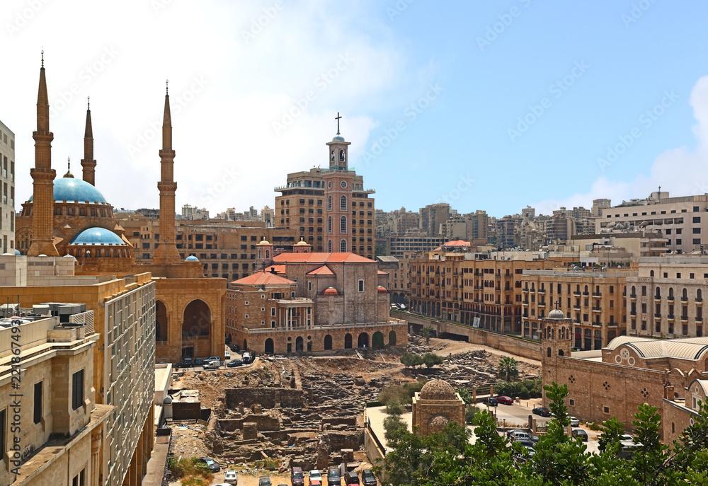 Photo  Downtown Beirut Skyline, Lebanon