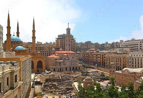 Photo  Downtown Beirut Skyline, Lebanon