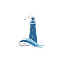 Lighthouse Logo. Hand Drawn Sk...