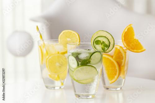 Foto op Plexiglas Cocktail Cold infused waters