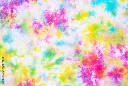 Fototapeta colorful tie dye pattern abstract background. obraz