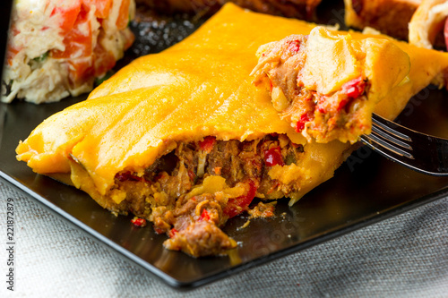 Canvas Prints Ready meals La Hallaca, typical Christmas dish in Venezuela