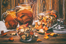 Rural Still-life - Compote With Dried Fruits From Apples And Pears Close-up, Selective Focus