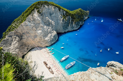 Fotografie, Obraz  Navagio Beach with Ship Wreck, Zakynthos Island, Greece