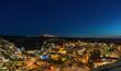 Panoramic view of night Cappadocia