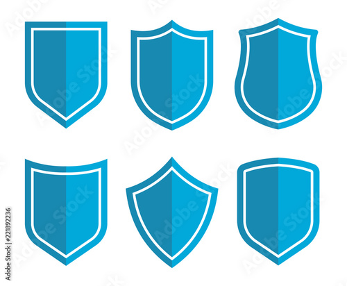 Obraz na plátně Shield icons collection. Protection sign. Security sign. Vector