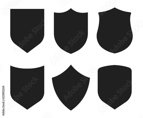 Fototapeta Shield icons collection. Protection sign. Security sign. Vector
