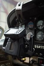 Aircraft Yoke In A Cockpit