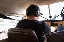 Pilot Ready To Fly Aircraft