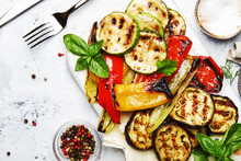 Grilled Colorful Vegetables, A...