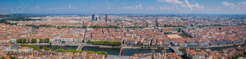 Panorama de Lyon vu de Fourvière Fototapeta