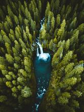Koosah Falls Aerial Shot