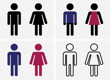 Ladies And Gentlemen, Men And Women, Boys And Girls, Toilet Signs