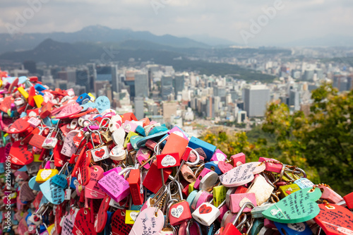 Canvas Prints Seoul Love Locks at N Seoul Tower