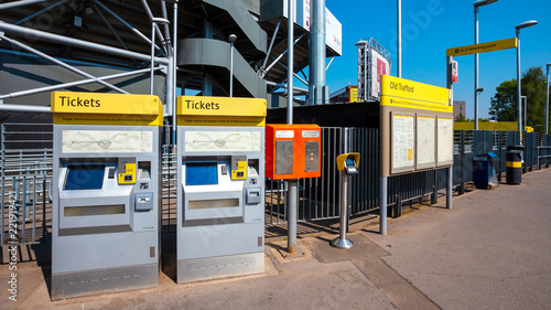 Ticket vending machine for Manchester Metrolink tram system in Manchester