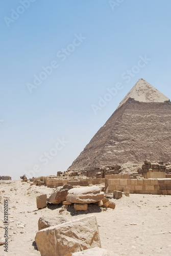 In de dag Egypte The Pyramids of Giza, Cairo, Egypt
