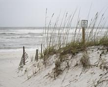 Keep Off Dunes Sign On Florida...