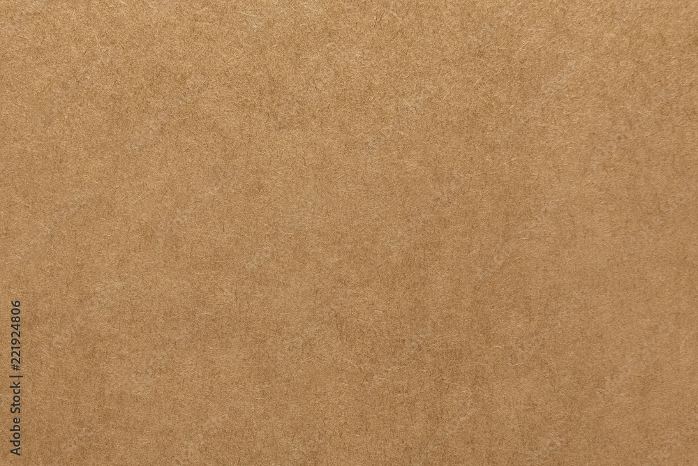 Fototapety, obrazy: Light brown kraft paper texture for background