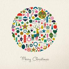 Christmas And New Year Retro Folk Art Ornament