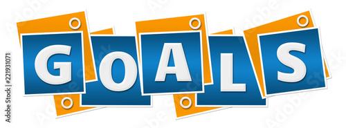 Goals Blue Orange Blocks Rings