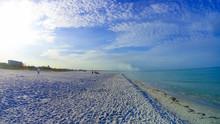The Beach On Siesta Key Beach With White Sand.