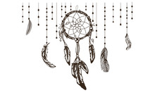 Dreamcatcher With Colorful Vib...