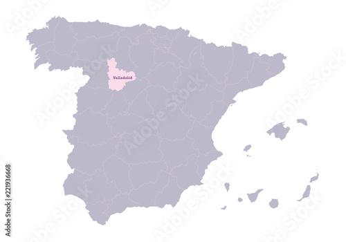 Map Of Spain Valladolid.Spain Map Illustration Valladolid Region Buy This Stock Vector