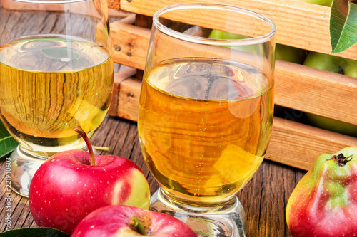 Photo Homemade cider from ripe apples