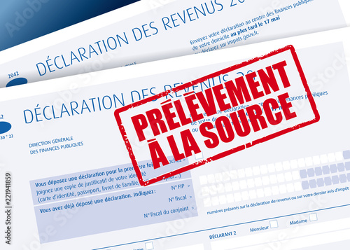 Photo Impôts - Prélèvement à la source