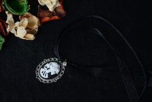 Halloween Necklace With Skelet...