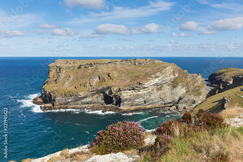Coast path view near Tintagel Cornwall England UK