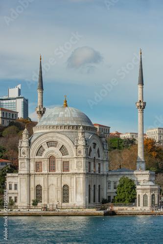 Dolmabahce Mosque (Aka Bezmi Alem Valide Sultan Mosque) in Istanbul Turkey Wallpaper Mural