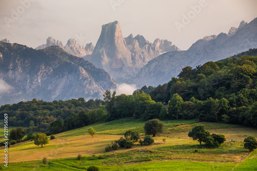 Naranjo de Bulnes known as Picu Urriellu in Asturias, Spain Canvas Print