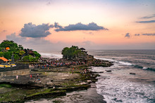 Sunset At Tanah Lot Temple On ...