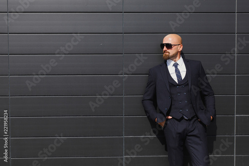 Fotografie, Obraz  Young and successful. Handsome young man in full suit