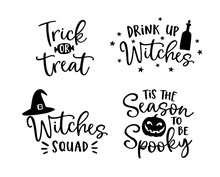 Set Of Handlettered Halloween ...