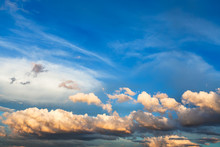 White And Yellow Cumuli Clouds...