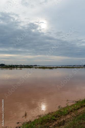 Foto  Tramonto sul Mekong - vientiane - Laos