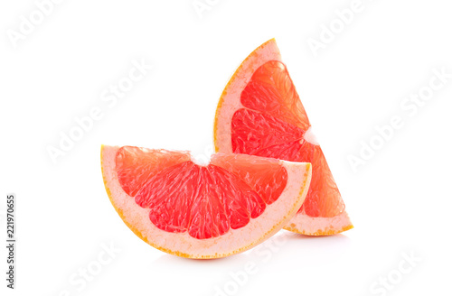 Fresh Grapefruit isolated on white background.