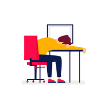 Businessman Fell Asleep In The...