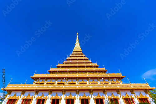 Spoed Foto op Canvas Bedehuis The famous pagoda in the Nongwang temple at Khonkaen province Thailand