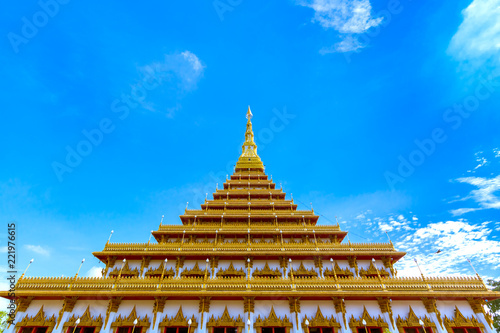 Deurstickers Bedehuis The famous pagoda in the Nongwang temple at Khonkaen province Thailand
