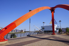 The Steel Wave Sculpture River Usk Newport Gwent Wales