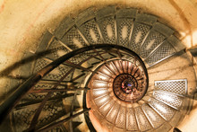 Large Staircase Of Winding Sta...