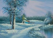 Verschneite Winterlandschaft M...
